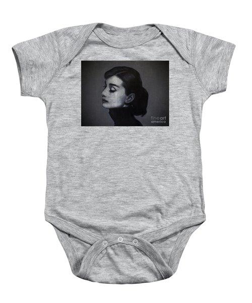 Art In The News 98-audrey Hepburn Baby Onesie