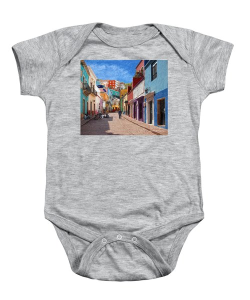 Art Students Drawing A Street In Guanajuato Baby Onesie