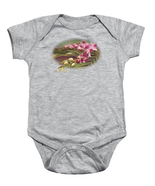 Dendrobium Orchids Baby Onesie