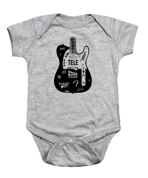 Fender Telecaster 58 Baby Onesie by Mark Rogan