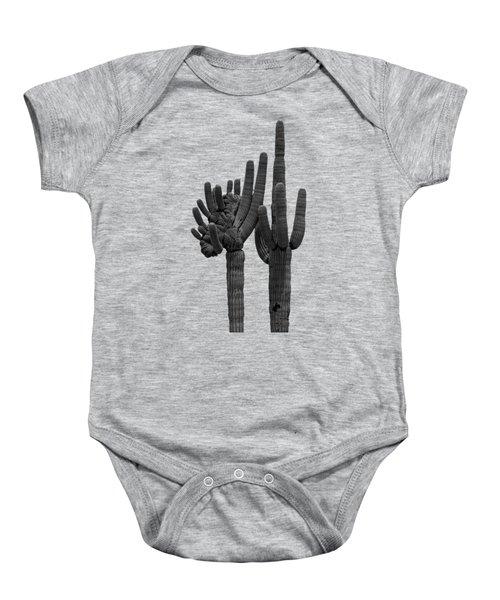Saguaro Duo Bw Baby Onesie