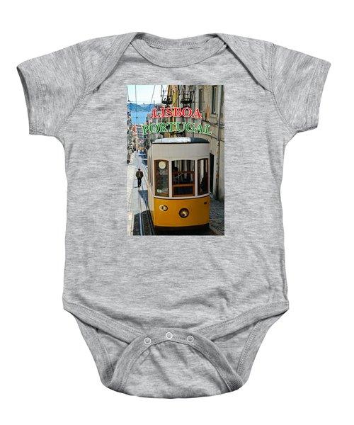 Lisbon - Portugal - Elevador Da Bica Baby Onesie