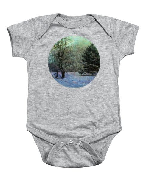 Into The Winter Morning Baby Onesie