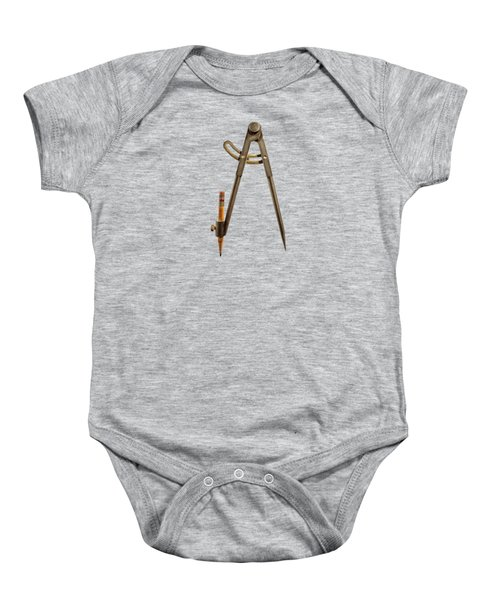 Iron Compass Backside Baby Onesie