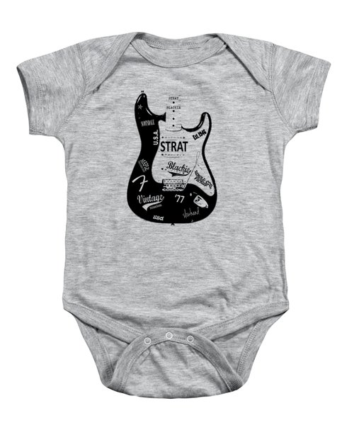 Fender Stratocaster Blackie 77 Baby Onesie