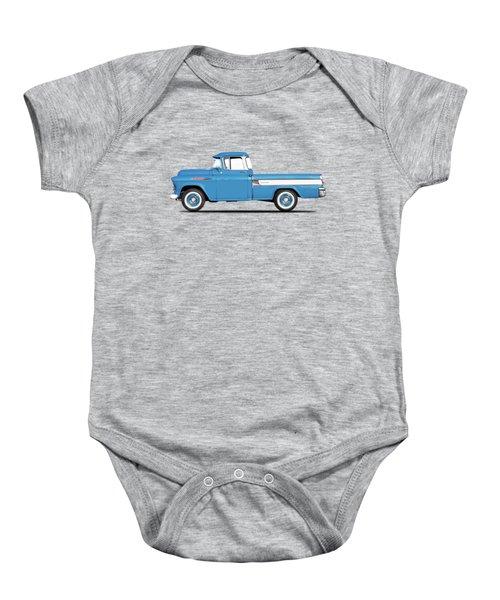 Cameo Pickup 1957 Baby Onesie by Mark Rogan