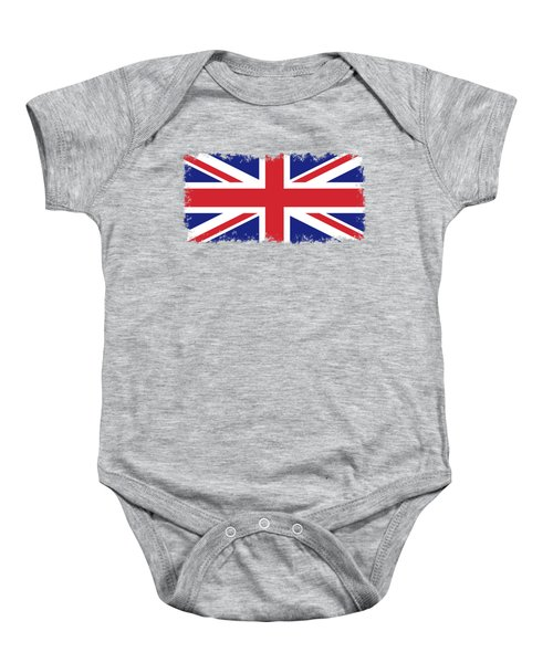 Union Jack Ensign Flag 1x2 Scale Baby Onesie by Bruce Stanfield