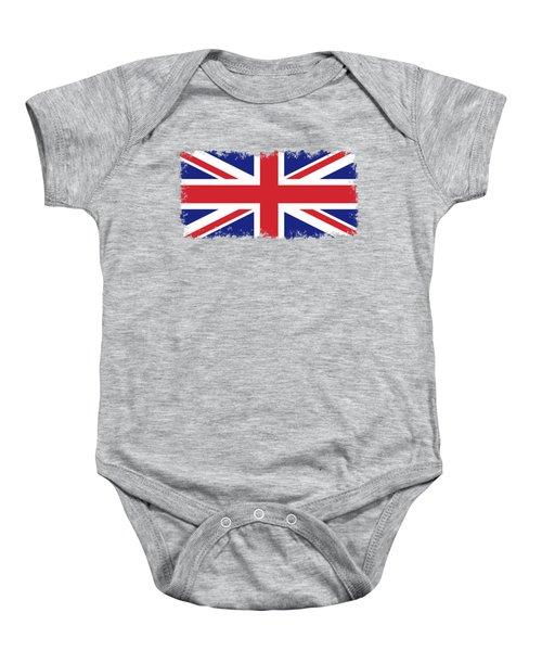 Union Jack Ensign Flag 1x2 Scale Baby Onesie