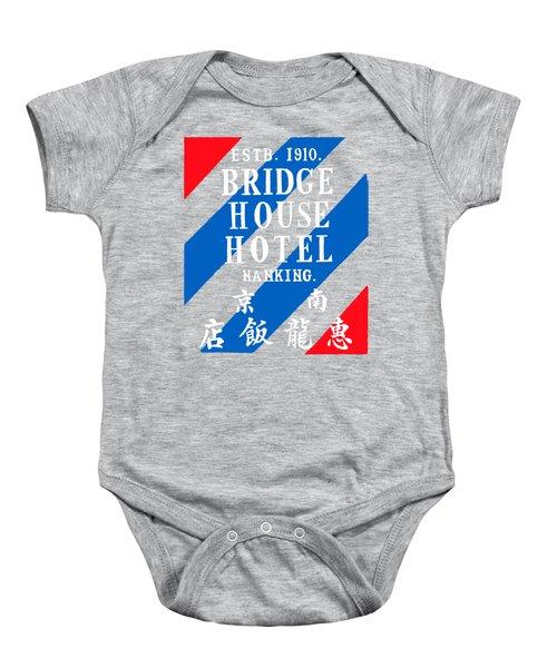 1920 Bridge House Hotel Nanking China Baby Onesie