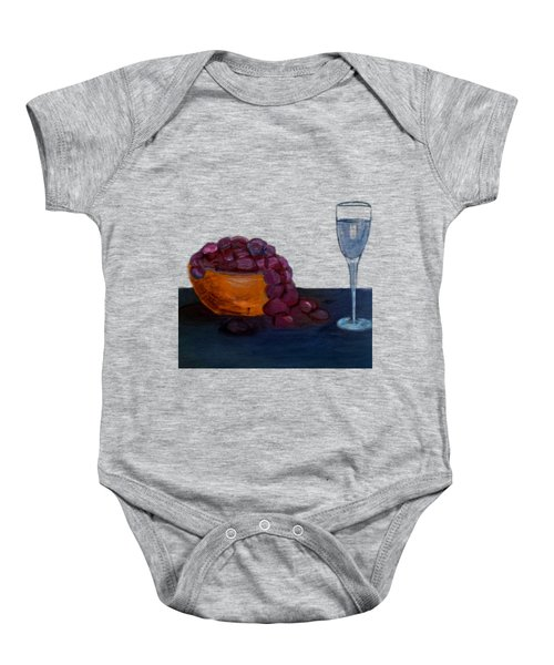 Grapes And Water Baby Onesie