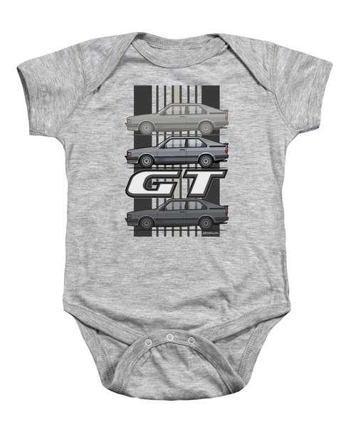 Four Rings Coupe Gt B2 Stone Grey Metallic Baby Onesie