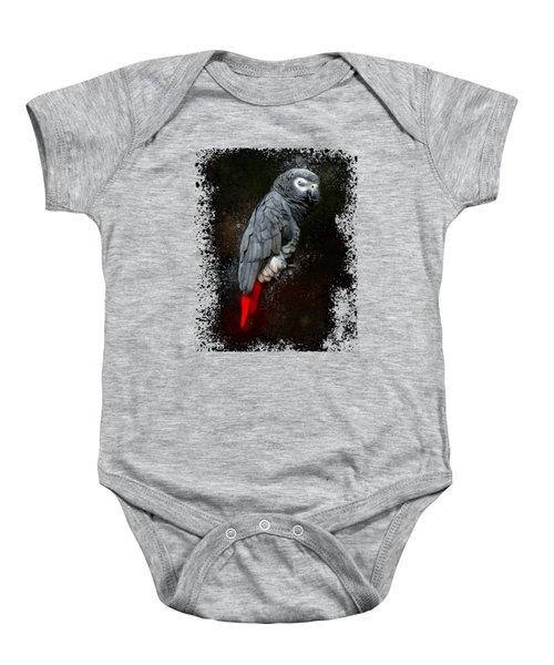 African Grey Parrot  Baby Onesie