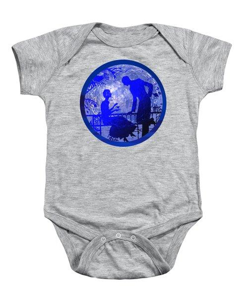 Blue Moonlight Lovers Baby Onesie