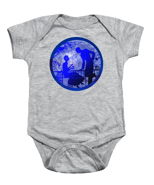 Blue Moonlight Lovers Baby Onesie