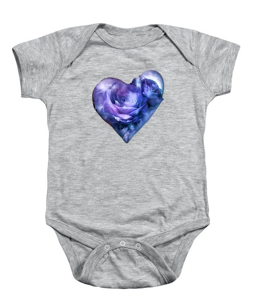 Heart Of A Rose - Lavender Blue Baby Onesie