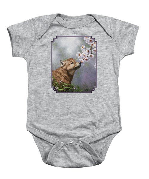 Wolf Pup - Baby Blossoms Baby Onesie