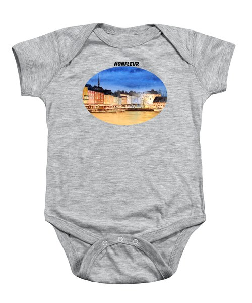 Honfleur  Evening Lights Baby Onesie by Bill Holkham