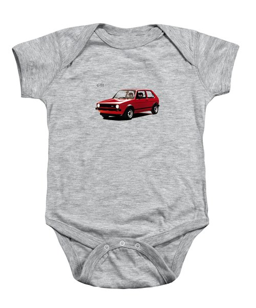 Vw Golf Gti 1976 Baby Onesie by Mark Rogan