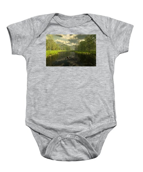 As The River Flows Baby Onesie