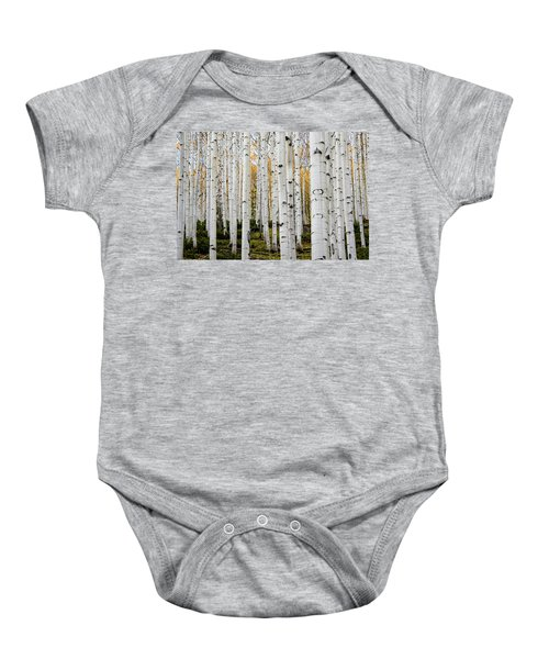 Aspens And Gold Baby Onesie
