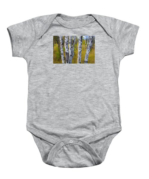 Baby Onesie featuring the photograph Aspens by Gary Lengyel