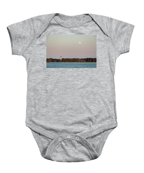 Assateague Light And The Full Moon Baby Onesie
