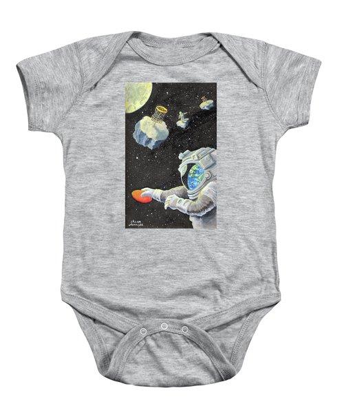 Astronaut Disc Golf Baby Onesie