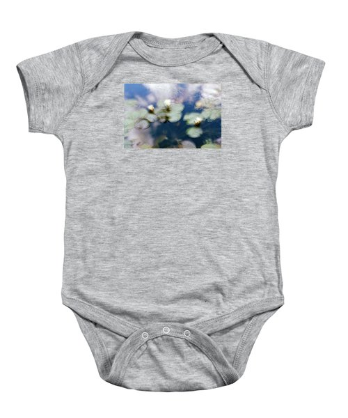 Baby Onesie featuring the photograph At Claude Monet's Water Garden 4 by Dubi Roman