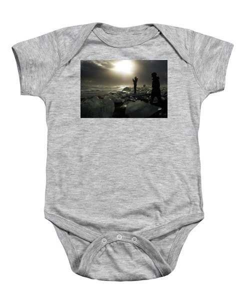 The Diamond Beach, Jokulsarlon, Iceland Baby Onesie