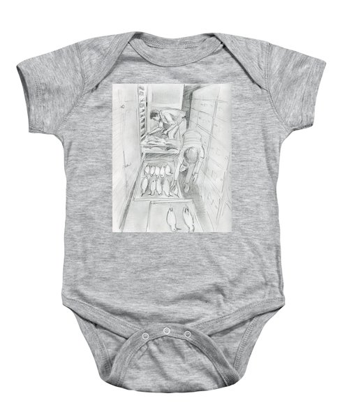 At The Museum I Baby Onesie