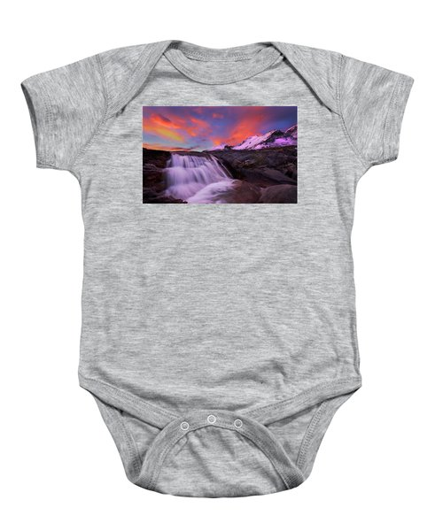 Athabasca On Fire Baby Onesie