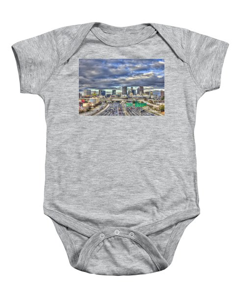Atlanta The Beautiful Cityscape South Looking North Atlanta Skyline Art Baby Onesie