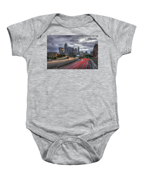 Atlanta Lights Up Downtown I-75 I-85 Baby Onesie