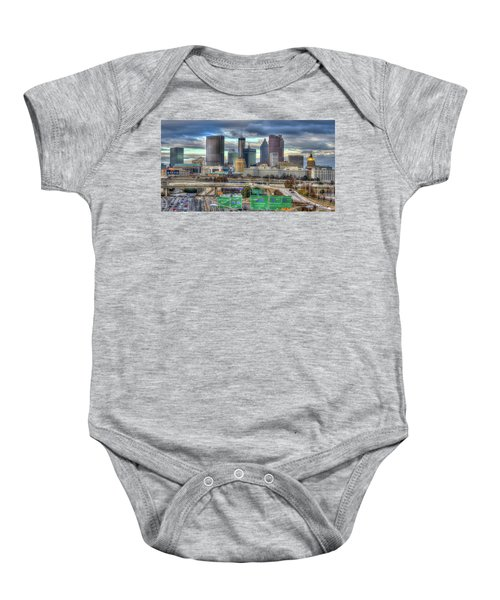 Atlanta Moving On Skyline Cityscape Art Baby Onesie
