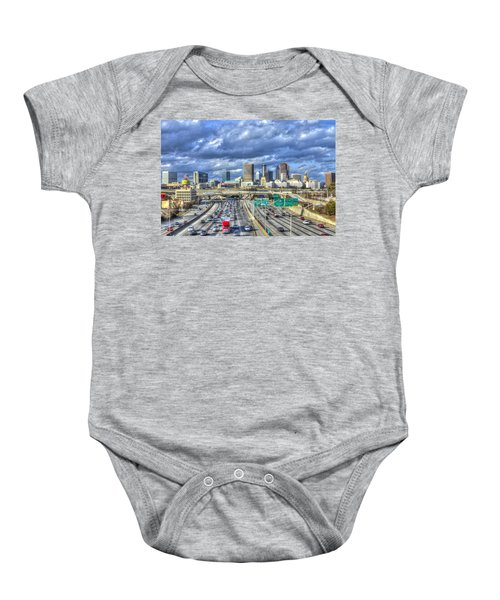 Atlanta Red Truck Express Baby Onesie