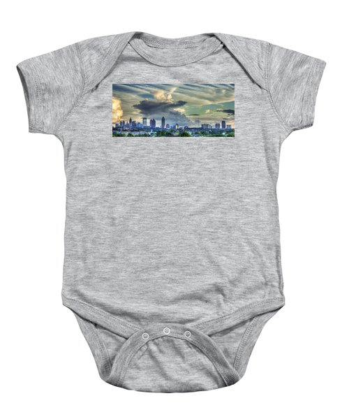 Atlanta Skyline Clouds Panorama Art Baby Onesie