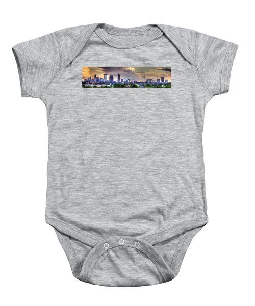 Atlanta Wet Sunset Cityscape Art Baby Onesie