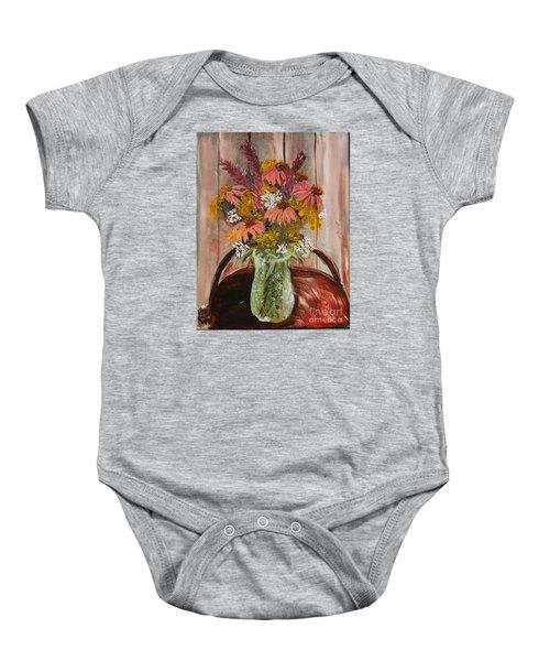 August Flowers Baby Onesie