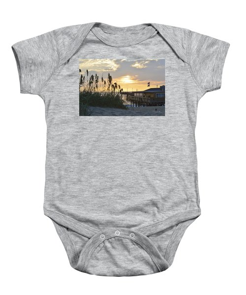 August Sunrise On The Obx  Baby Onesie
