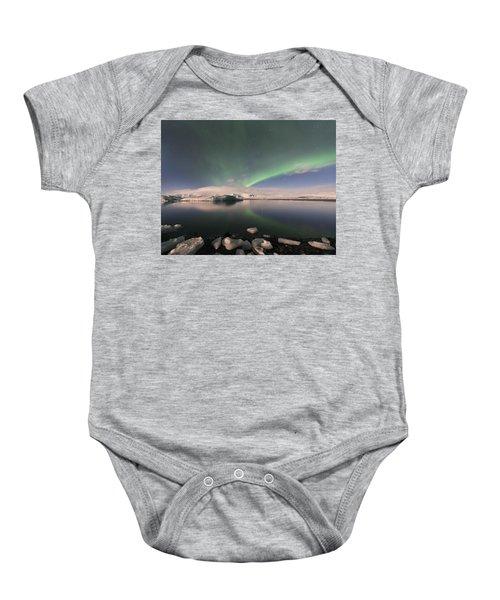 Aurora Borealis And Reflection Baby Onesie