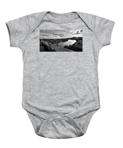 Austin 360 Pennybacker Bridge Sunset Baby Onesie