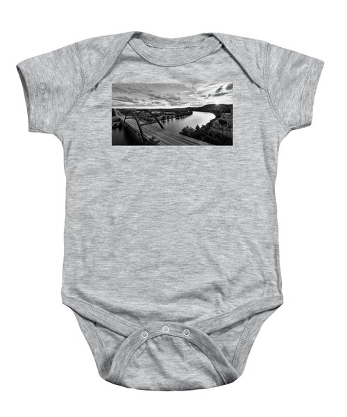 Austin 360 Pennybacker Bridge Sunset Baby Onesie