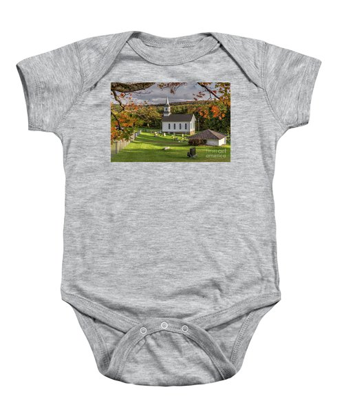 Autumn Church Baby Onesie