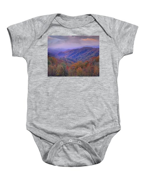 Autumn Deciduous Forest Great Smoky Baby Onesie