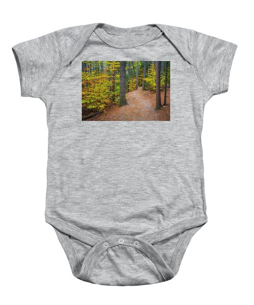 Autumn Fall Foliage In New England Baby Onesie