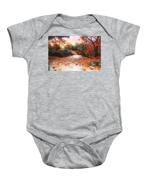 Autumn In Discovery Lake Baby Onesie