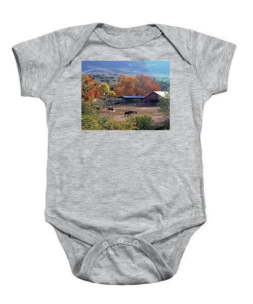 Autumn Ranch Baby Onesie
