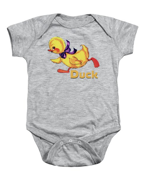 Baby Duckling And Eggs Pattern Baby Onesie