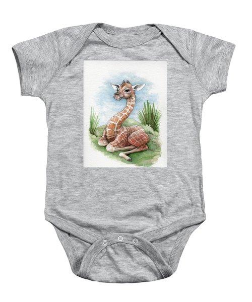 Baby Giraffe Baby Onesie