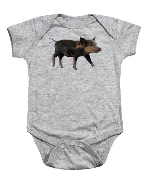 Baby Pig Art Baby Onesie